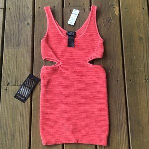 NWT Bebe Side Cut Out Ribbed Dress